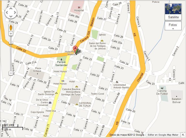 Escuela De Ingles En Tunja - Tunja map
